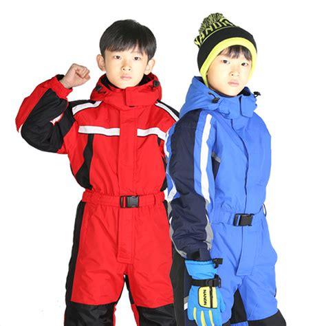 Jumpsuit Pendek Bobo 2 5t 2 7t winter baby ski romper boy snow catsuit waterproof outdoor snow rompers jumpsuit