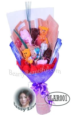 You Flirty Edible Toys by Soft Plush Doll Flower Bouquet Gift Lavender And