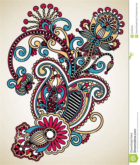 art design line art ornate flower design royalty free stock photos