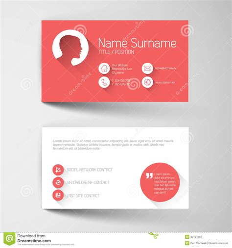 business card template millions of users modern business card template with flat user interface