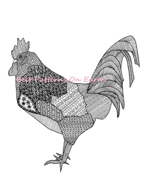 zen coloring pages pdf rooster coloring page zen rooster by lushtartartproject on