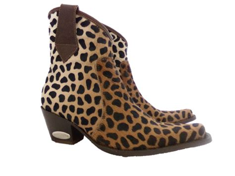 cheetah boots safari cheetah cowboy bootie