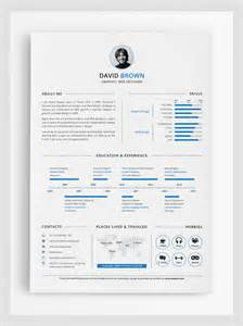Easy To Use Resume Templates by Modern Cv Resume Templates With Cover Letter Design
