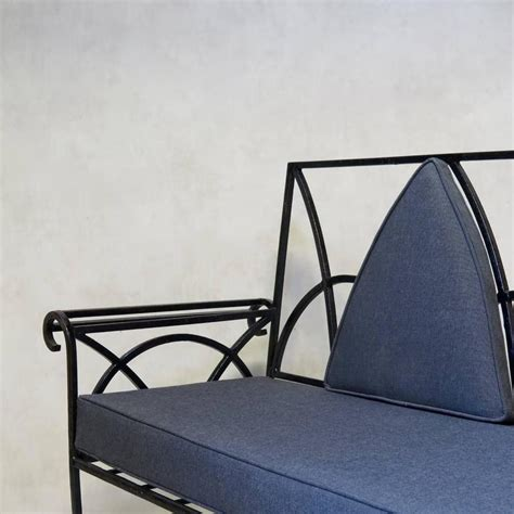 wrought iron settee french wrought iron settee circa 1940s for sale at 1stdibs