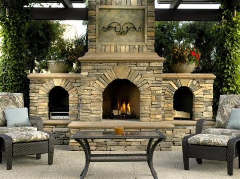 outdoor living room with fireplace luxurious design for outdoor rooms hgtv