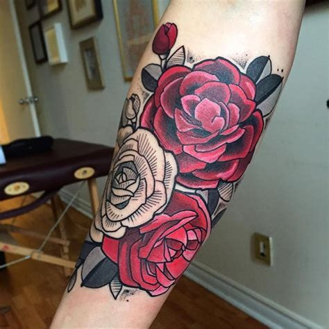 traditional rose tattoo sleeve 1000 ideas about neo traditional on