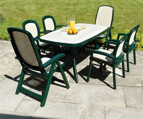 green plastic outdoor table  chairs designs resin