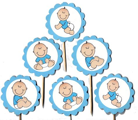 Cupcake Toppers For Baby Boy Shower by Baby Shower Cakes Boy Baby Shower Cupcakes Toppers