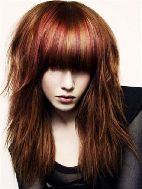 hairstyles with brown hair and red highlights how to cut short layers on top of head