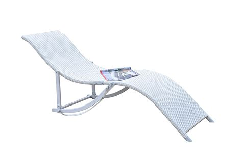 white wicker chaise lounge clearance rattan wicker outdoor patio chaise lounge chair recliner 2