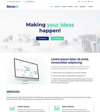 Free Bootstrap Themes And Website Templates Bootstrapmade Four Page Website Template