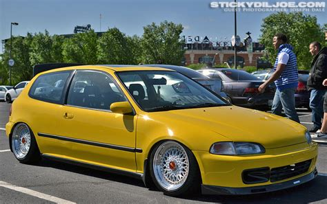 Fogl Ferio Civic 96 98 Yellow yellow honda civic eg hatchback on 16 white bbs rs bbs