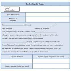 product liability disclaimer template product liability release form sle forms