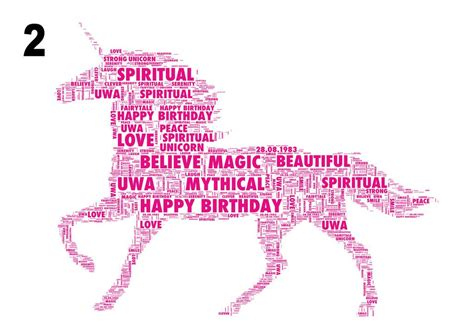 personalised word template personalised word template wordart word personalised unicorn word print two styles by unique