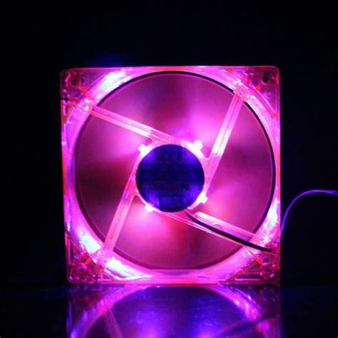 led pc case fans lyf pink frame blue led light 12v 4pin 12cm 120mm x 25mm