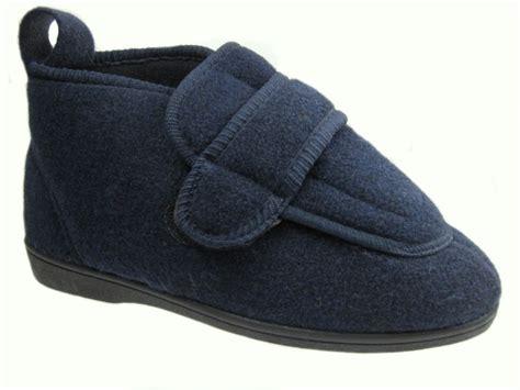 orthopedic slippers mens mens wide fitting orthopedic velcro slipper boots
