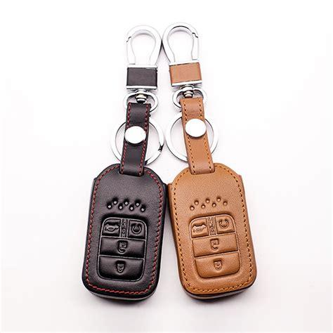 hot sale genuine leather car remote keychain cover case bag  honda   crv pilot accord