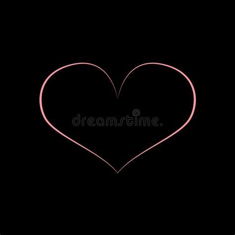 black pink heart pink black heart design stock illustration illustration