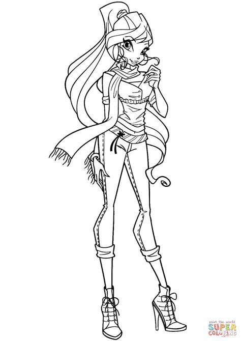 winx coloring pages  winx bloom page bloom winx club