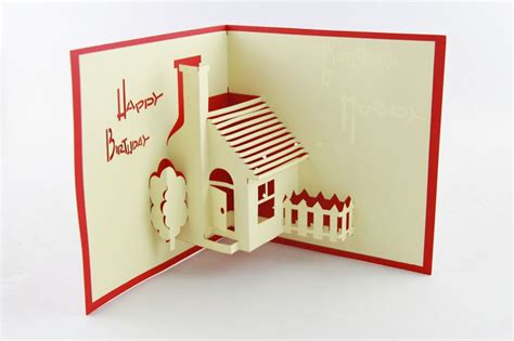 template for pop up house card aliexpress buy house pop up greeting card