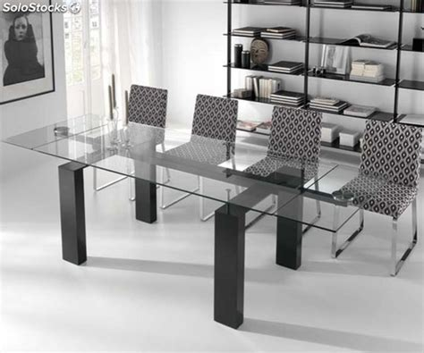 mesas de comedor de vidrio extensibles mesa comedor cristal extensible 3605 para tu hogar