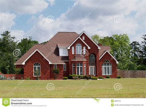 2 story brick house plans two story brick residential home stock photo image 9363110
