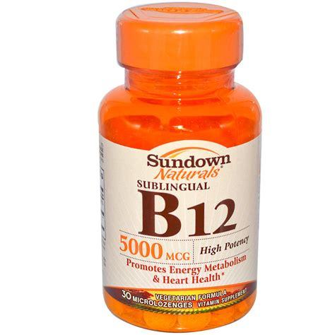 Vit B12 Rexall Sundown Naturals High Potency Sublingual B12 5000