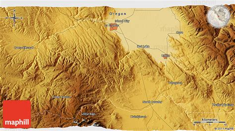 3d map of oregon physical 3d map of la grande