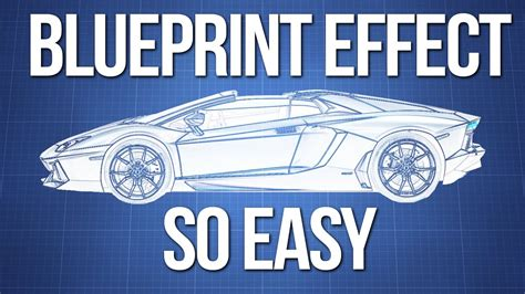 how to create a blueprint effect in photoshop cs6 youtube blueprint effect photoshop youtube