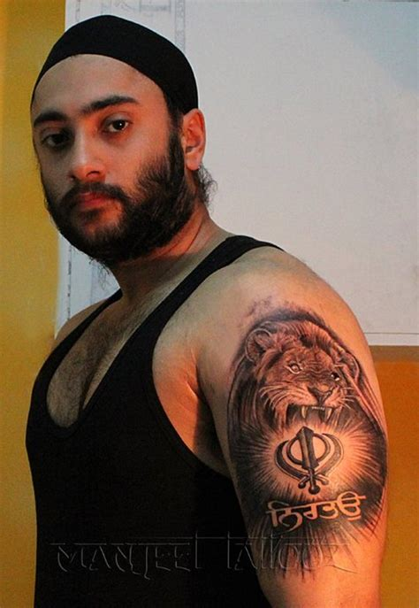 khanda lion tattoo designs 20 punjabi khanda tattoos