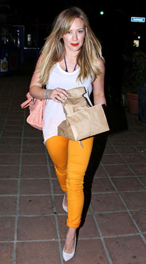 Lg Hilarry Reddress Wanitadress Fashion hilary duff who bright colored denim us weekly