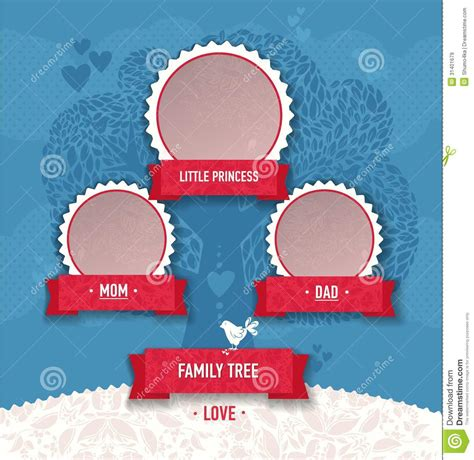 Vector Template For Family Tree. Royalty Free Stock Images ...