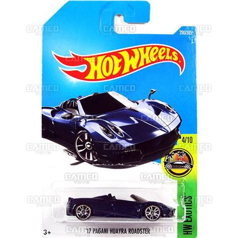 Wheels 17 Pagani Huayra Roadster Biru 17 pagani huayra roadster 290 blue 2017 wheels basic m assortment camco toys