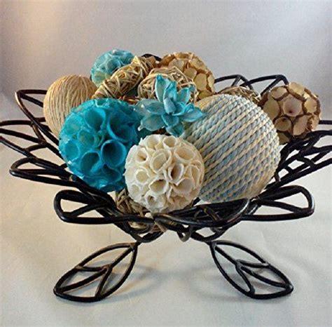 decorative vase fillers decorative spheres aqua rattan vase filler blue bowl