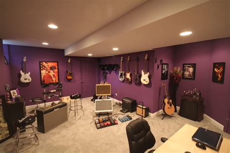 Basement Bathrooms Ideas Music Studio Contemporary Basement Other Metro By