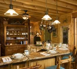 Rustic Kitchen Lighting Ideas Lighting Fixtures Rustic Lighting Ideas Southnext Log Cabin Kitchen Decor With Wooden Material