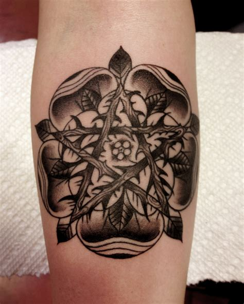 pentagram dotwork tattoo by three kings tattoo best