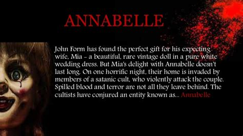 annabelle doll notes annabelle correcttt