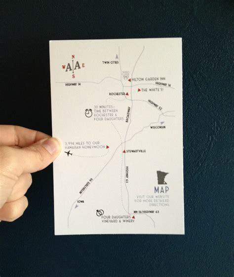 map wedding invitation insert diy map insert for wedding invites sahl white