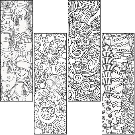 winter bookmarks coloring page stock up on color craze winter bookmarks as a fun and