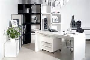White beautiful modern storage office desk along with chair and