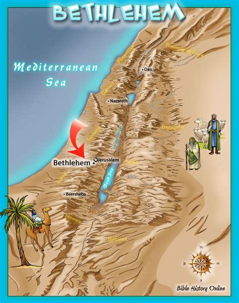 bethlehem jerusalem map bethlehem where jesus was born in a manger bible maps