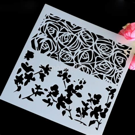 scrapbooking stencils and templates airbrush cake layering stencils templates scrapbooking