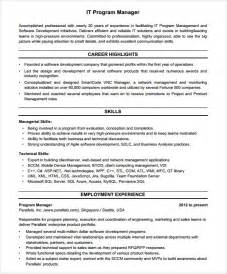 resume template project manager project manager resume template free documents