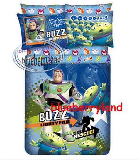 Buzz Lightyear Duvet Cover Disney Toy Story Buzz Lightyear Bedding Set Single Size