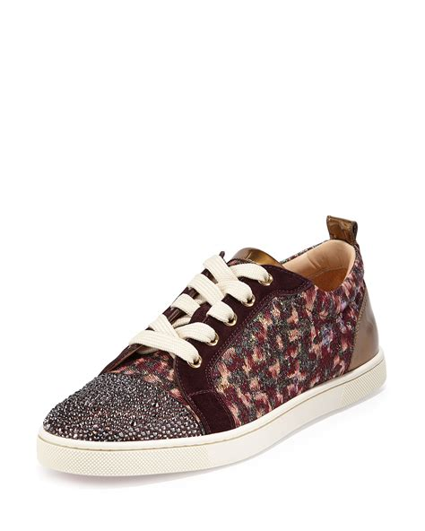 christian louboutins sneakers christian louboutin gondola strass low top sneaker in