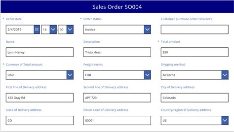 form layout design exles understand data form layout in microsoft powerapps