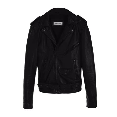 circle park s staple leather jacket in black lyst