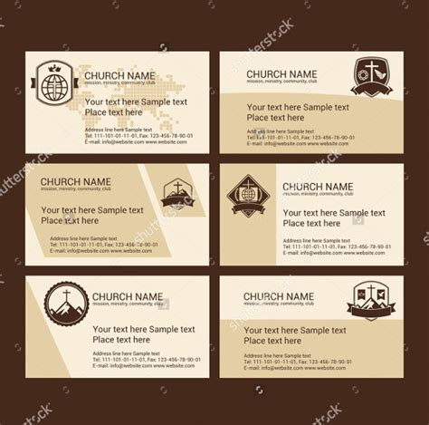 ministry business card templates 25 church business card templates free premium