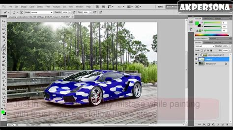 how to color car with cheetah zebra pattern on photoshop